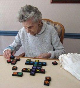 جدول کلمات و بازی فکری سالمندان